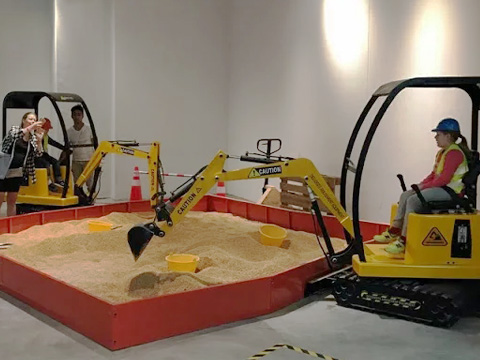 Buy attraction children's excavator from China