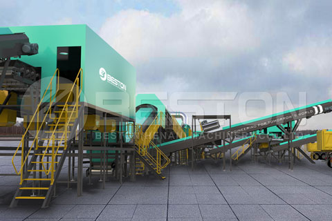 urban solid waste separation plant